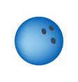 red bowling ball isolated on transparent vector image vector image