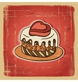 Retro Cake Background vector image vector image