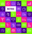 retro line icons vector image