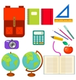 School supplies clip art objects vector image