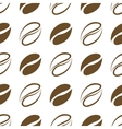 Seamless pattern coffee beans vector image