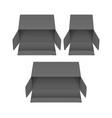 set black cardboard boxes mockups vector image vector image