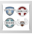 set boxing design elements vector image