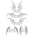 set dragon wings vector image