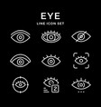 set line icons of eye vector image vector image