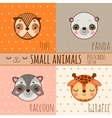 Set of face animals cartoon heads vector image