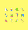 set simple line icons prosthetics vector image