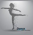 silhouette a dancing girl from triangles vector image