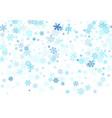 snow flakes falling macro design vector image