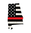 state alabama firefighter support flag vector image vector image