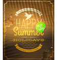 Summer holidays greeting emblem and sticker vector image