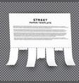 tear off stripes paper sheet on transparent vector image
