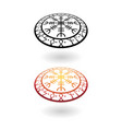 viking circle perspective symbols set vector image vector image