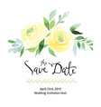 watercolor yellow roses vector image vector image