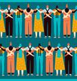 women of different nationalities religions vector image vector image