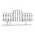 wooden sketch fence vector image