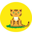 toy tiger cartoon character vector image
