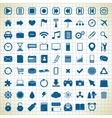 set of media icons vector image