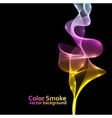 Abstract colorful smoke background with black copy vector image vector image