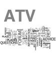 atv forums text word cloud concept vector image vector image