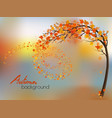 autumn nature background with a tree and a vector image