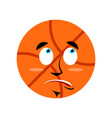 basketball surprised emoji ball astonished vector image vector image