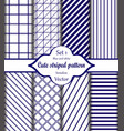 blue and white pattern set 1 vector image