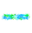blue watercolor big blot spread to light vector image
