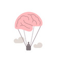 brain as hot air balloon free mind imagination vector image vector image