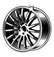 car disk vector image