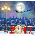 Christmas Winter Cityscape vector image
