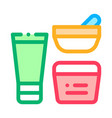 cosmetic container tube icon outline vector image vector image