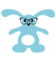 Cute bunny with glasses Isolated vector image