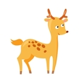 Cute deer cartoon running wild character vector image