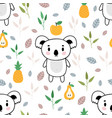 cute seamless pattern with little koala bear vector image vector image