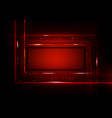 digital technology futuristic red background to vector image vector image