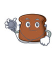 doctor brown bread character cartoon vector image vector image