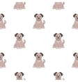 Dog cartoon icon for web and mobile vector image vector image