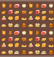 east delicious dessert sweets food eastern vector image vector image