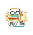 education label back to school logo graphic vector image vector image
