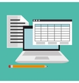 education online flat icons vector image