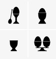 egg cups vector image vector image