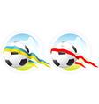 euro soccer emblem vector image vector image