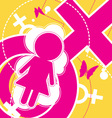 female icon background vector image vector image