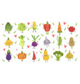 funny girly design vegetables set vector image vector image