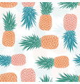 geometric tribal pineapples seamless pattern vector image vector image