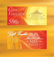 Gift Voucher Gift certificate Coupon template gift vector image