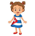 girl wearing clothes with cuba flag vector image vector image