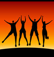 group young happy people vector image vector image