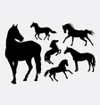 Horse silhouettes vector image vector image
